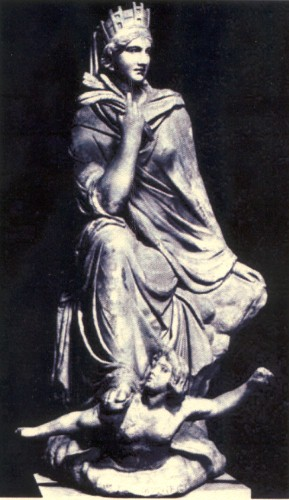 Roman marble copy of the Tyche of Antioch by Eutychides